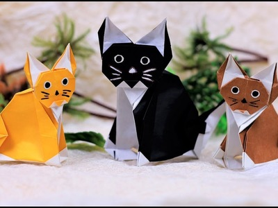Paper Folding Art (Origami): How to Make  Home Cats