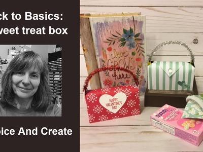 Paper, Ruler, Scissors: Box!  Back to Crafty Basics: A sweet treat box