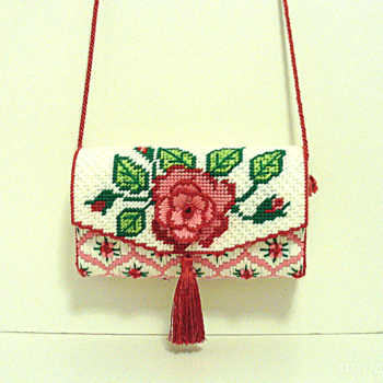 Red and Pink Rose Clutch