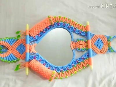 Valentine special Macrame heart shape Mirror Holder