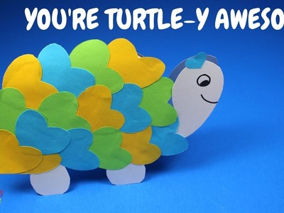 Valentines Day Card for Kids | Turtle Heart Valentines Day Card for Kids