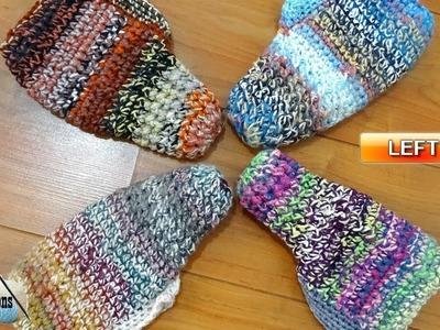 Beginner Crochet Booties for Adults - Left handed Crochet Tutorial