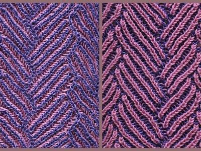 Brioche knitting *Pathways scarf* knitting patterns