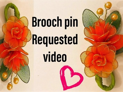 Brooch pin with nylon stocking {How to} (Req video)