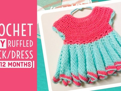 Crochet baby party dress(6 to 12 months) - English version