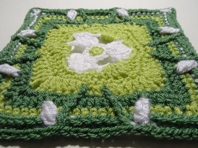 Crochet Blanket - The Secret Garden - Part 1 - Snowdrops