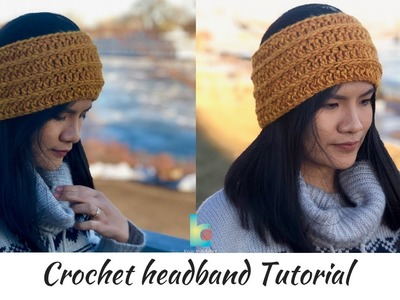 Crochet Headband ( written pattern & tutorial )