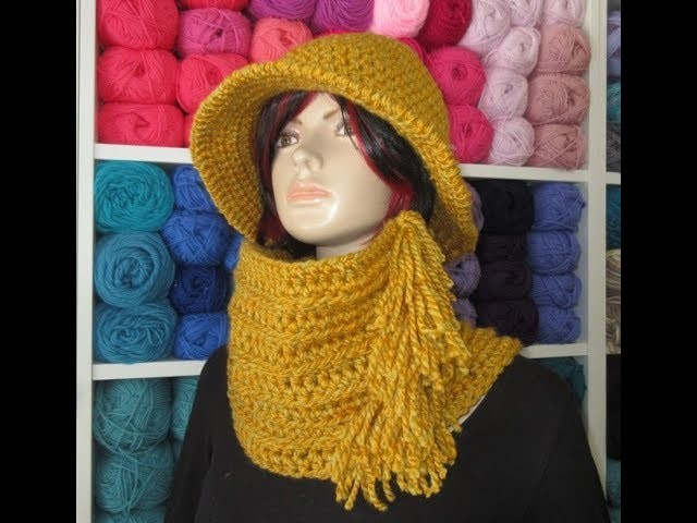 Crochet neck warmer or cowl for the set with winter hat  m4v