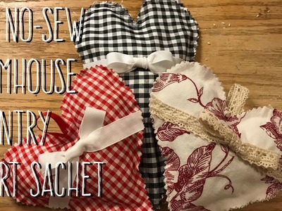 DIY No-Sew Farmhouse Country Heart Sachets