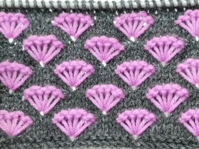 Fancy Two Colour Knitting Pattern for Frocks, Yokes, Cardigans, Shawls, Socks, Jackets Hindi.Eng.