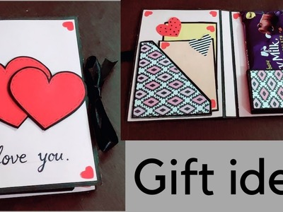 Handmade valentines day card\gift idea \how to make card for valentines day\card for chocolate day