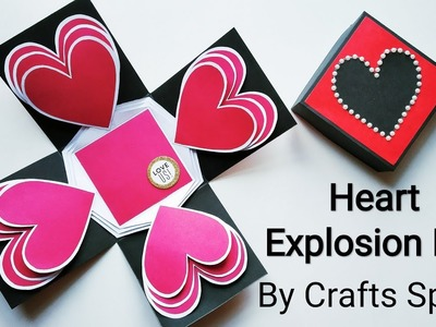 Heart Explosion Box Tutorial | Valentine Day Gift Ideas | By Crafts Space