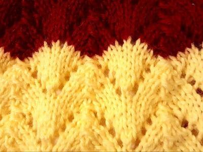 Horseshoe Lace Stitch: a Knittycat's Knits Tutorial