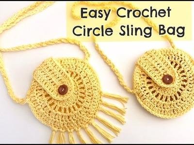 How to Crochet Circle Sling Bag tutorial