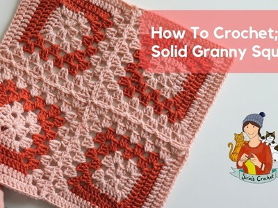 How To Crochet Half Solid. Half Granny Squares