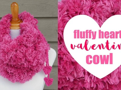 How To Crochet the Fluffy Hearts Valentine Cowl