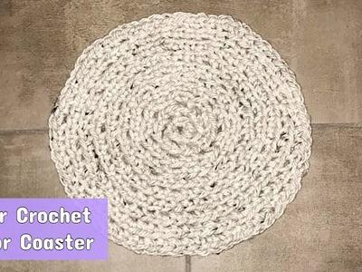 How to Finger Crochet a No Sew Circular Rug or Coaster - Crochet Jewel