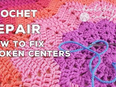 How to fix broken crochet centers - easy repair tutorial