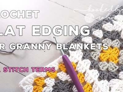 How to keep your crochet border flat with no ruffling - easy crochet tip for beginners