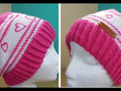 How to knit a hat for Valentines day