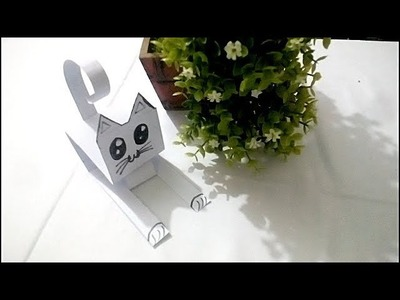 How to make a paper cat - easy way