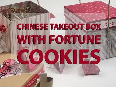 How To Make Chinese Takeout Boxes With Fortune Cookies - Paper Crafting