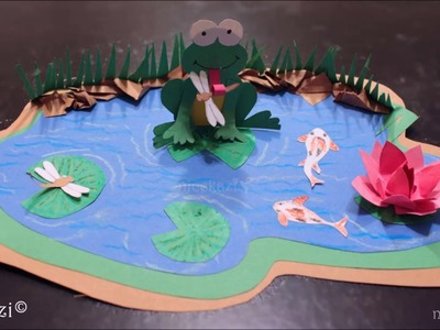 How to make Kids Crafts_Paper Pond