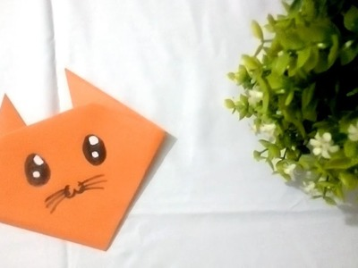 Origami Cat face - YouTube | 300x400