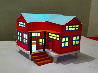 How to making a Beautiful House From chart Paper | Paper Crafts | Tech Toyz videos
