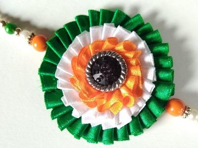 Indian Tricolour rakhi using ribbon | New design