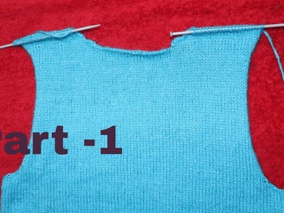 Ladies Full Sweater (Part-1)Back Part.Step By Step.