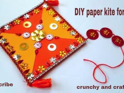 Makar sankranthi decorative kite at home
