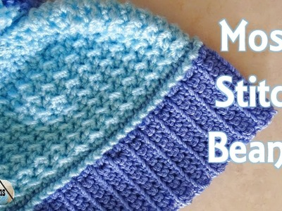 Moss Stitch Beanie REVISED - Right Handed Crochet Beanie Tutorial