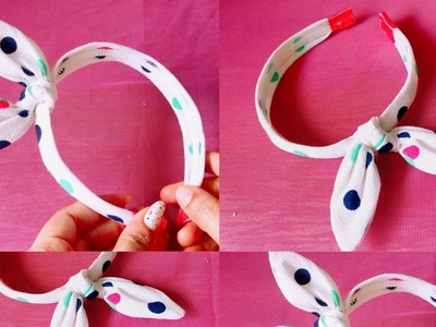 Rabbit ear headband DIY.how to make rabbit ear headband.Malayalam video