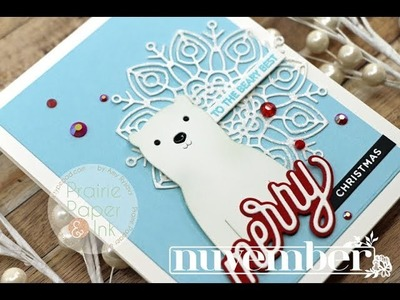 SSS Picture Book Polar Bear   AmyR 2018 Christmas Card Series #6