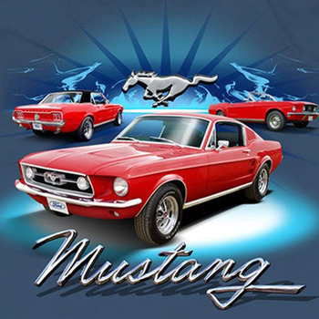 1968 Ford Mustang Cross Stitch Pattern***LOOK***X***INSTANT DOWNLOAD***
