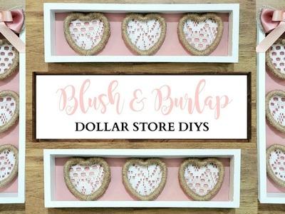 1 DIY Craft, 25 Different Ways! ~ Romantic Blush & Burlap Decor ~ Dollar Store DIY