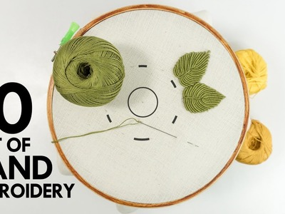 10 Best of Hand Embroidery Designs: Learning Tutorials on YouTube 2019