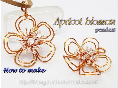 Apricot blossom pendant - How to make wire jewelry 457
