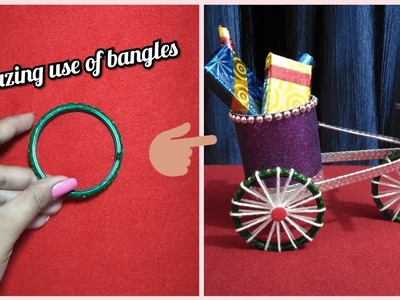 Bangles craft. DIY Cycle from bangles. Best out of waste craft idea