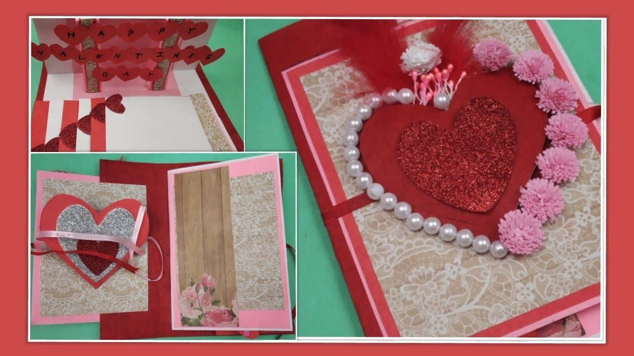 Beautiful Handmade Valentine's Day card idea|DIY Greeting Cards for Valentine's day card| Gift ideas