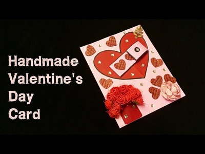 Beautiful Handmade Valentine's day card Idea | DIY Greeting Cards for Valentine's day |Scrapbook.