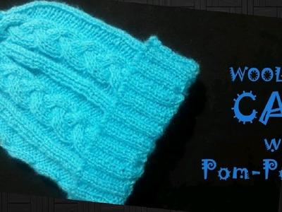 BEAUTIFUL WOOLEN CAP with POM-POM 3-4 Years Old  L-36 (Hindi) Jasbir Creations