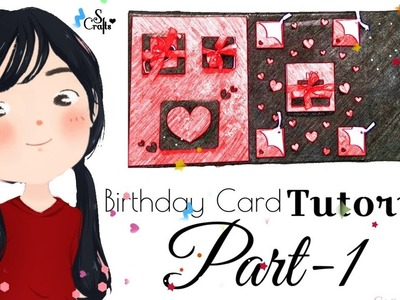 Birthday Card ♥️ | Tutorial | Part 1 | S Crafts | Easy handmade Card Tutorial
