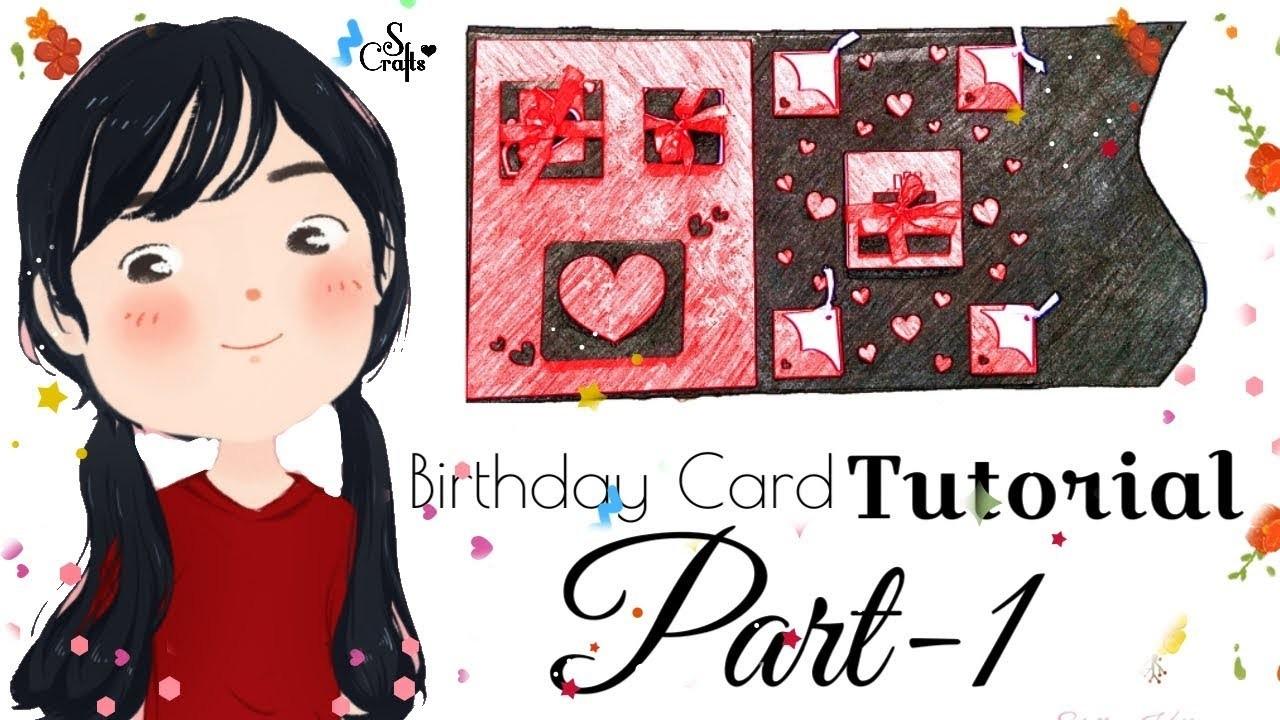 Birthday Card ♥️ | Tutorial | Part 1 | S Crafts | Easy handmade Card Tutorial