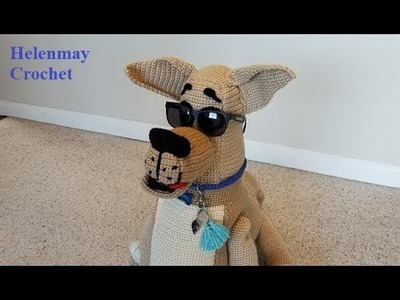 Crochet Large Great Dane Dog Part 3 of 3 DIY Video Tutorial