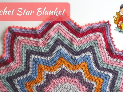 Crochet Star Blanket. Beginner Friendly Tutorial