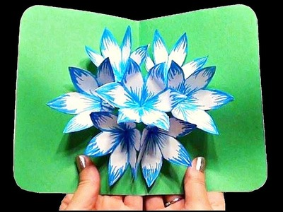 DIY 3D flower POP UP card ❤ Step by Step ❤ Valentine's and Mother's Day Card