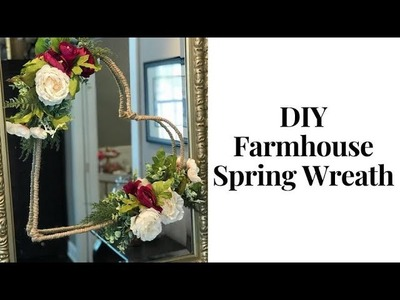 DIY Dollar Store Spring Classic Glam Farmhouse Heart Wreath