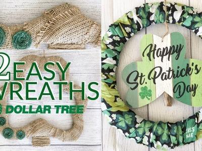 DOLLAR TREE DIY | ST. PATRICK'S DAY WREATHS | EASY DOLLAR TREE CRAFTS